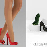 Shoes Sims 4 High Heels Feminity
