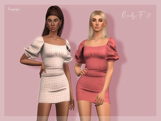 Short Sims 4 Dress Dr397 By Laupipi
