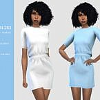 Short Sleeve Sims 4 Dress 283