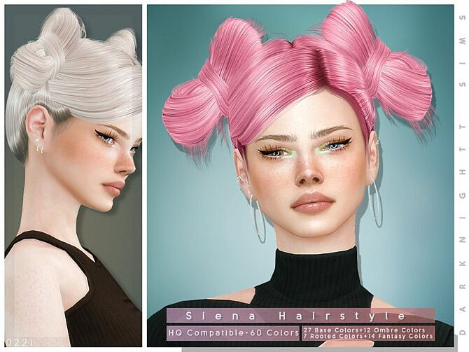 Sims 4 Siena Hairstyle by DarkNighTt at TSR