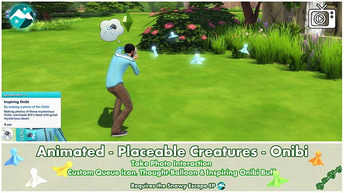 Sims 4 Animated Placeable Creatures Onibi by Bakie at Mod The Sims 4