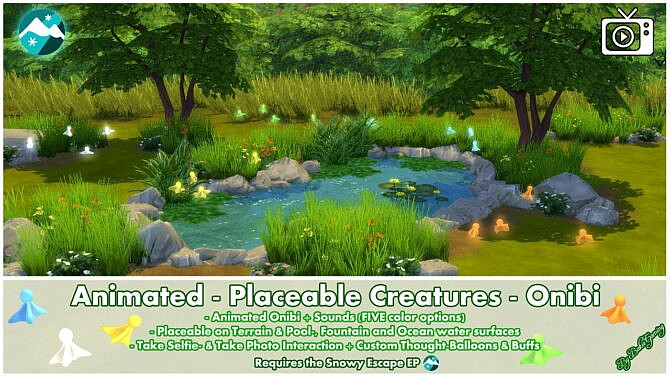 Sims 4 Animated Placeable Creatures Onibi