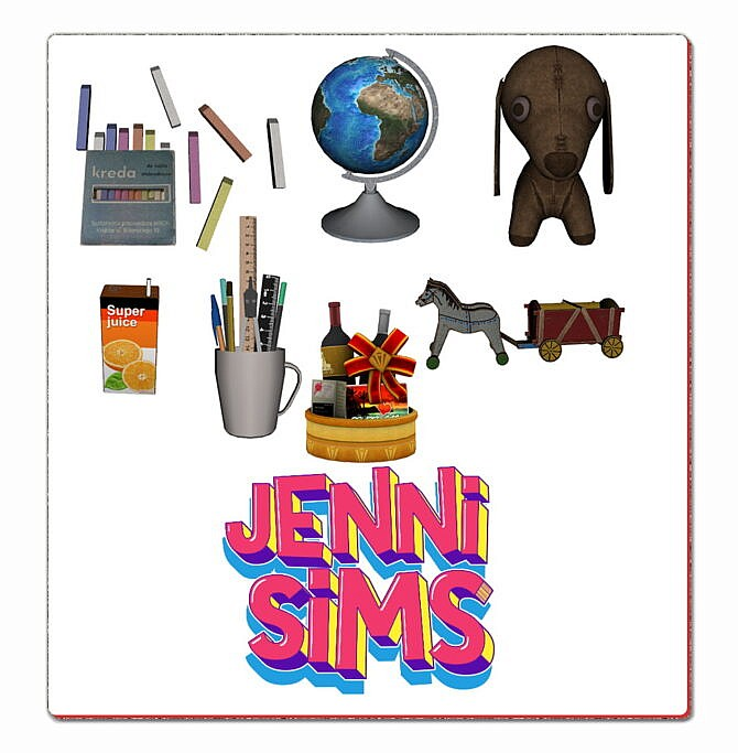 Sims 4 CLUTTER 7 ITEMS at Jenni Sims