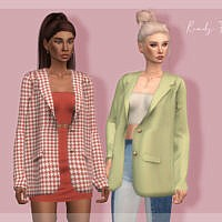 Sims 4 Jacket With A Top Tp400
