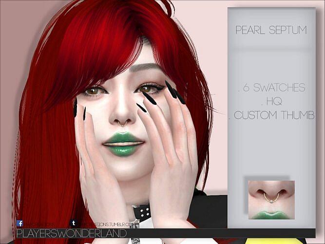 Sims 4 Pearl Septum