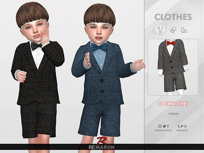 Sims 4 Suits for Toddler 01 by remaron at TSR