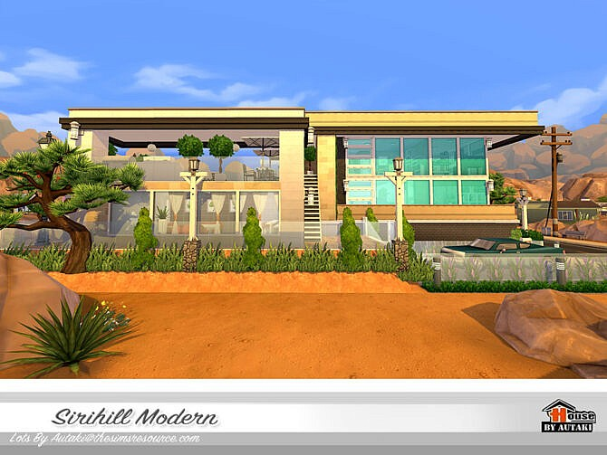 Sims 4 Sirihill Modern House by autaki at TSR