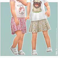 Sissi Sims 4 Skirt Toddler Girls
