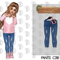 Skinny Sims 4 Jeans C318