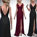 Skyscraper Sims 4 Gown With Slit