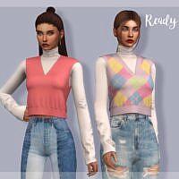 Sleeveless Sims 4 Sweater Tp393