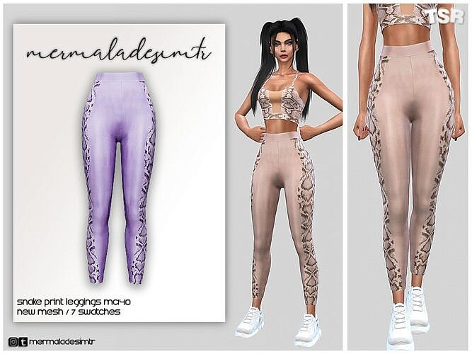 Snake Print Sims 4 Leggings Mc140