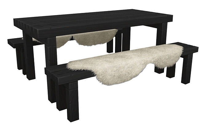 Snowy Escape Picnic Table 1