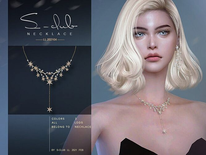Stars Sims4 Necklace 202104
