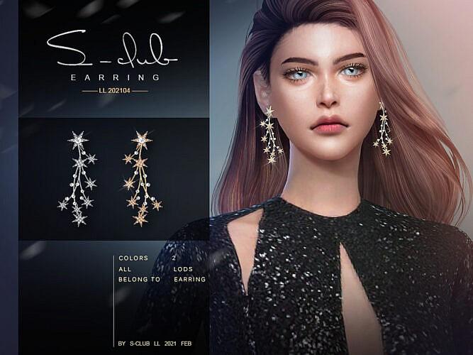 Stars Earrings Sims 4 2021024 By S Club Ll