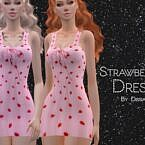 Strawberries Sims 4 Dress By Dissia