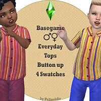 Striped Sims 4 Shirt Toddlers