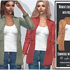 Suede Sims 4 Shirt With Pockets