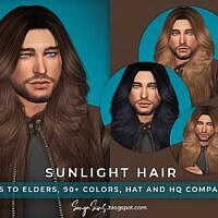 Sunlight Long Sims 4 Hair For Males