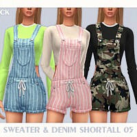 Sweater & Denim Shortall 05 By Black Lily