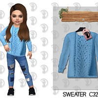 Sweater Sims 4 C323