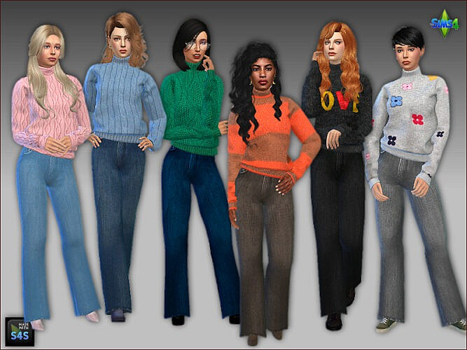 Sweaters Jeans Sims 4