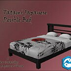 Tatami Japanese Sims 4 Double Bed