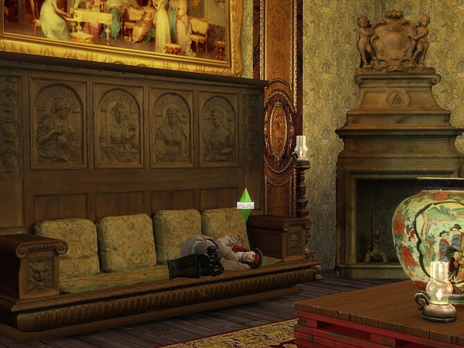 Sims 4 The Billiards Room Set at Anna Quinn Stories