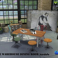 The Warehouse Sims 4 Dining Room