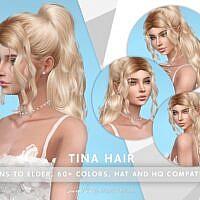 Tina Long Sims 4 Hair Curly Ponytail