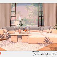 Tiramisu Sims 4 Living Set