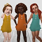 Toddler Autumnal Sims 4 Romper