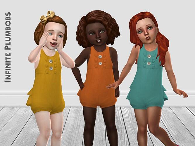 Toddler Autumnal Sims 4 Romper