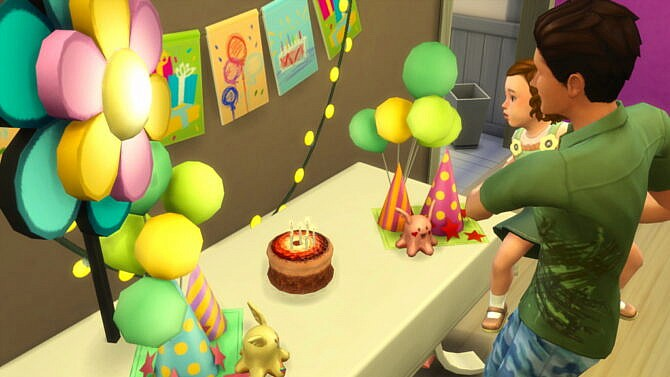 Sims 4 Toddler First Birthday Party at Caradriel