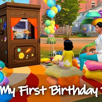 Toddler First Birthday Party Sims 4