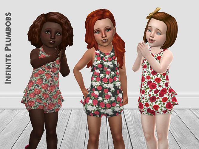 Toddler Rose Sims 4 Romper