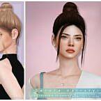 Top Bun Sims 4 Hair Derora