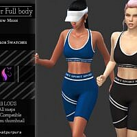 Top Shorts Activewear Sims 4 Outfit