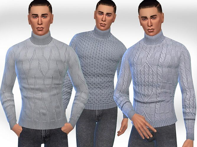 Turtleneck Sims 4 Pullovers Males
