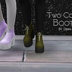 Two Color Sims 4 Boots