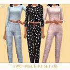 Two Piece Sims 4 Pj Set 06