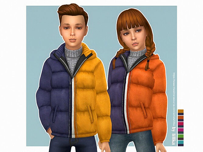 Two Tone Sims 4 Jacket For Kids