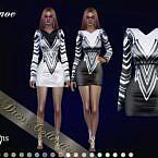 Tynoe Short Sims 4 Dress