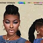 Updo Dreads Sims 4 Hair
