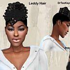Updo Hair Leddy Sims 4