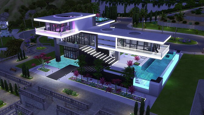 Sims 4 Utopia Into the Future luxury mansion by Bellusim at Mod The Sims 4