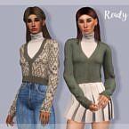 V Neck Sims 4 Sweater Tp396