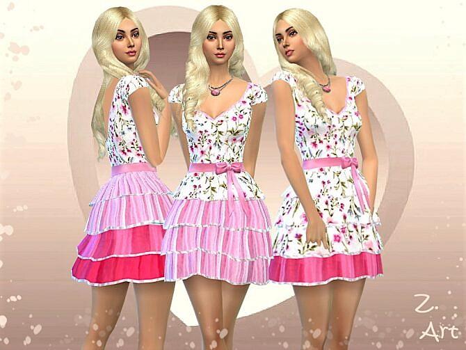 Sims 4 ValentineZ 2101 Dress by Zuckerschnute20 at TSR