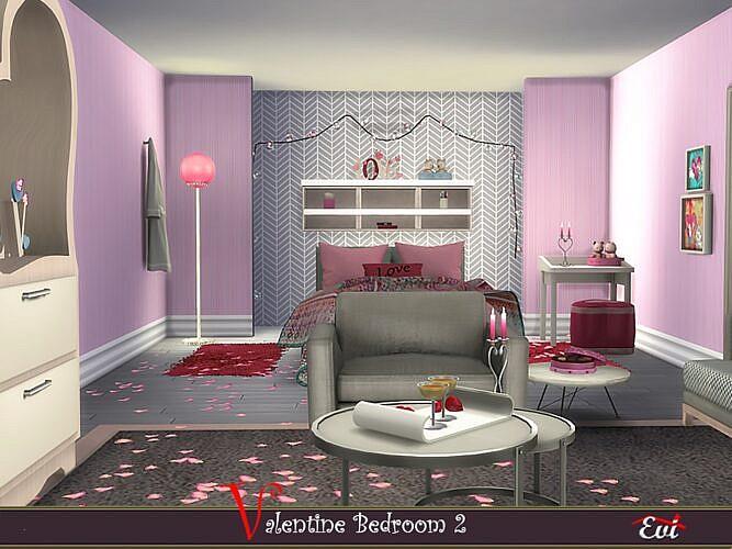 Valentine Sims 4 Bedroom 2