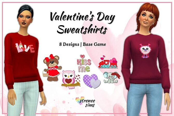 Valentine Sims 4 Sweatshirts